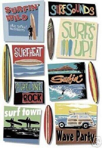 Karen Foster SURFIN/' WILD Scrapbook Stickers
