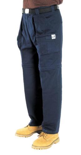 Kombo Cargo Pants Convert to Shorts Trousers Zip Off Leg Boys Mens Strong Cotton