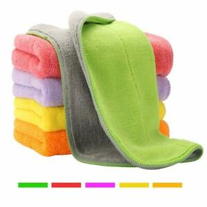 Super-Thick-Microfiber-Cloth-Set-Cleaning-Towel-Cloths-Easy-Fast-Cleans-5-Towels