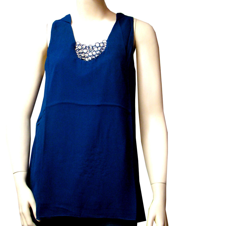Débardeur tunique I.CODE by IKKS capuche blu blu blu Donna  Dimensione M c090f6