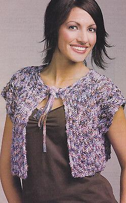 Crochet Pattern ~ Ladies Star Quality Shrug  ~ Instructions