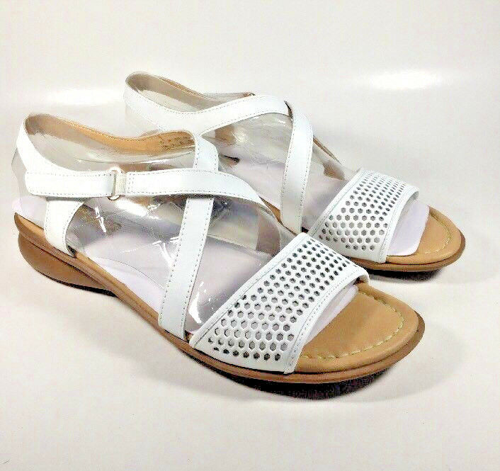 M2200 New Women's Naturalizer Juniper White Leather Sandals Size 11 N