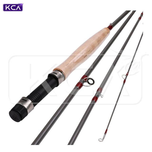 Medium Fast Action Fly Rod, 9ft, 5wt, 4 Sections, Graphite