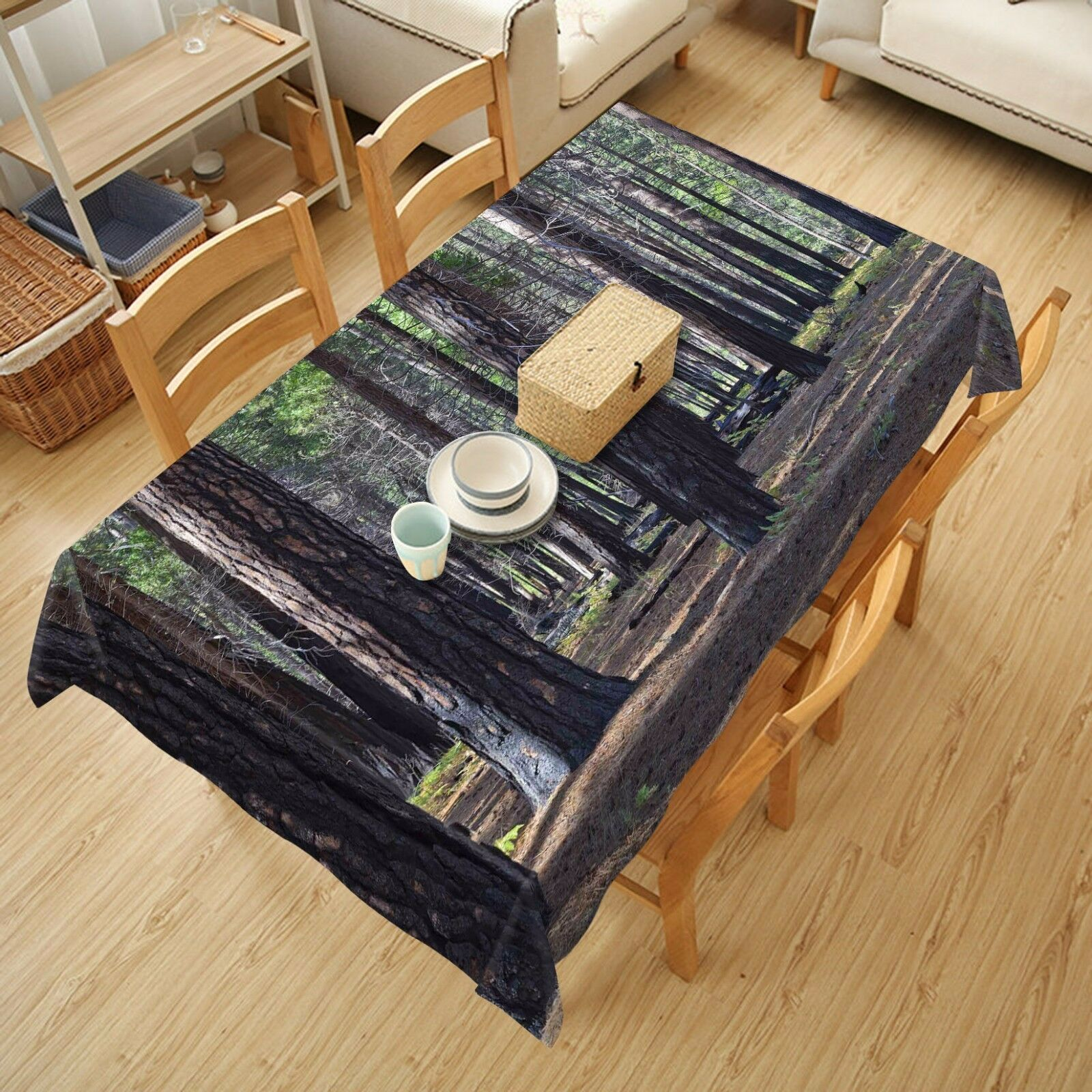 3D Woods dark8 Tablecloth Table Cover Cloth Birthday Party Event AJ WALLPAPER AU