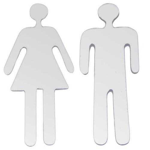 Removable 3D Mirror Public Toilet Restroom Sign Men Women Wall Stickers for Bar