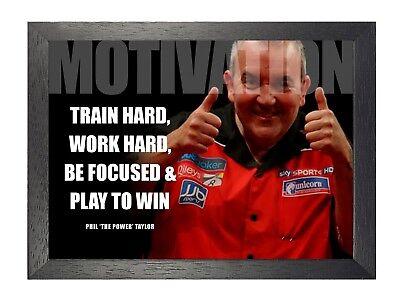 Phil Taylor 1 Darts World Champion Motivation Determination Sports Icon Poster