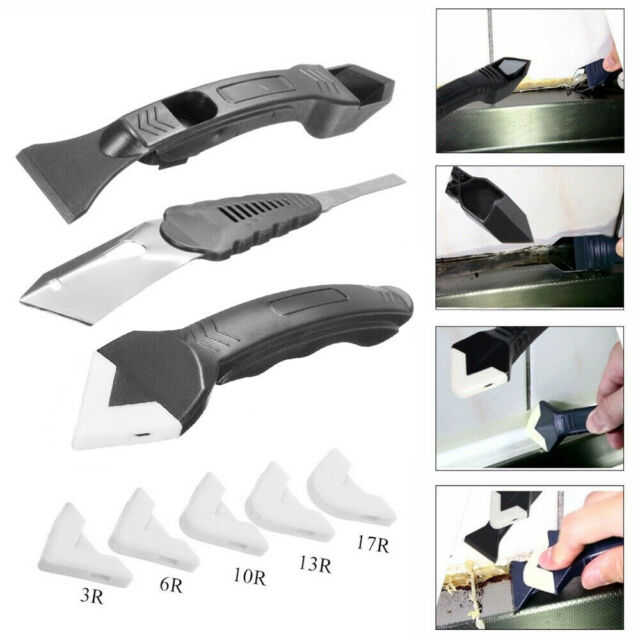 4× Caulking Tool Caulk Remover Spatula Scrapers Silicone Scraper Applicator Kit