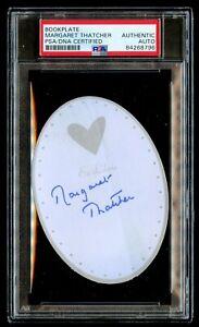 Margaret Thatcher signed autograph 3x4 Bookplate Former UK Prime Minister PSA
