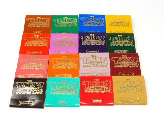 Incense-Match-Books-Assorted-Variety-Scented-Matches-Box-Lot-of-16