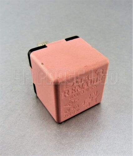 Renault Multi Use Pink Relay 8200338695 12V 40A Bitron 4-Pin