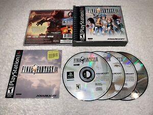 Final-Fantasy-IX-PlayStation-1-PS1-Black-Label-Complete-w-Manual-Excellent