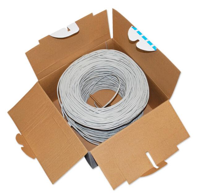 CAT.5 FTP Kupfer LAN Kabel, Verlegekabel 300 m  Datenkabel Netzwerkkabel Kat 5