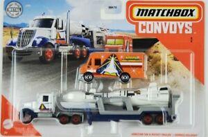2020-Matchbox-Lonestar-Semi-amp-cohete-Remolque-entrega-urgente-van-convoyes