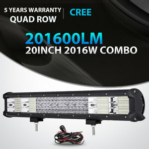 QUAD-ROW-20INCH-2016W-LED-LIGHT-BAR-SPOT-FLOOD-COMBO-OFFROAD-DRIVING-LAMP-SUV-22
