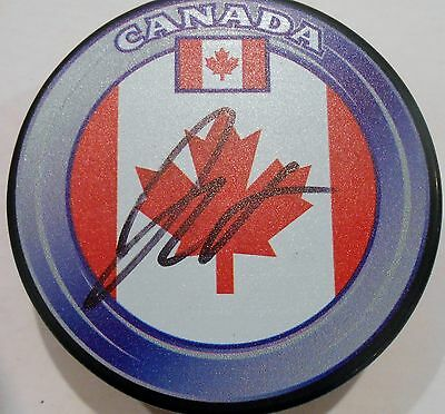 Orderly Joey Bouwmeester Signed Team Canada Hockey Puck W/coa St Louis Blues We Take Customers As Our Gods Hockey-nhl