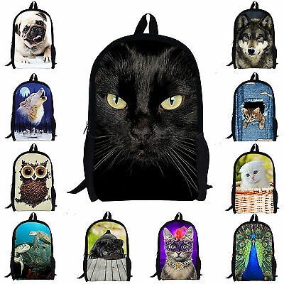 Women Girls Travel Satchel Backpack/Owl Cat Rucksack Shoulder Bookbag School Bag