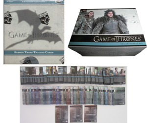Trading Card Game Of Thrones Season 3 Collection Complète Lot x98 Cartes Set Box