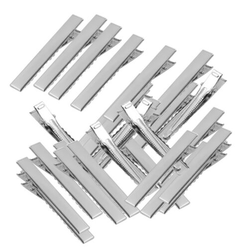 50 Stück Flach Metall Einzel Prong Alligator Haarspangen Entenschnabel