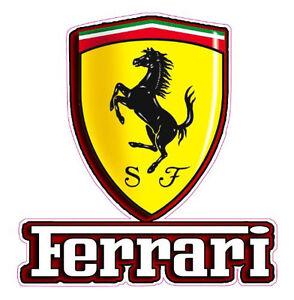 Ferrari Emblem Decal 5 Quot X 4 Quot Ebay