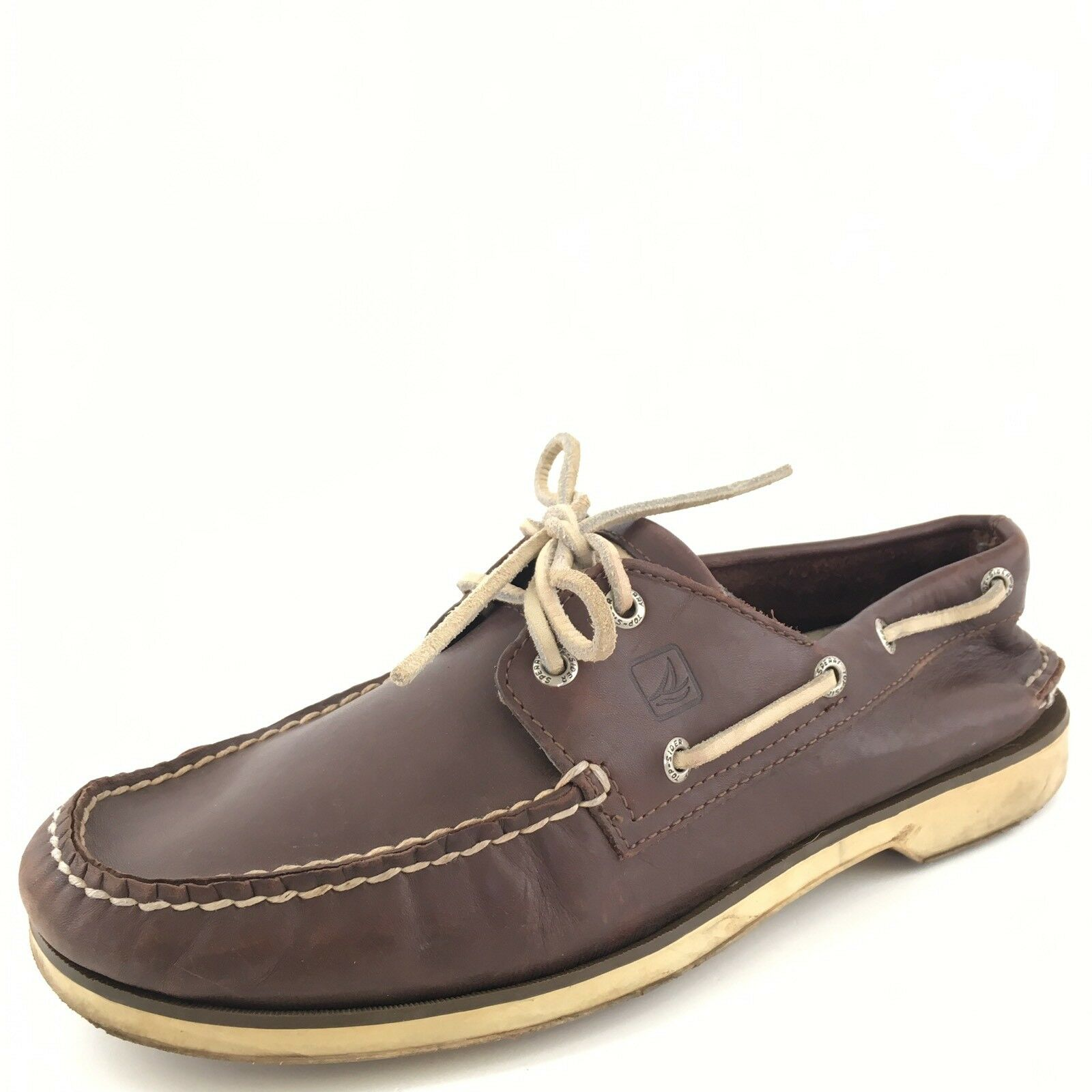 Sperry Top-Sider Blue Point Brown Leather Casual Boat Shoes Men's Size 10 M*