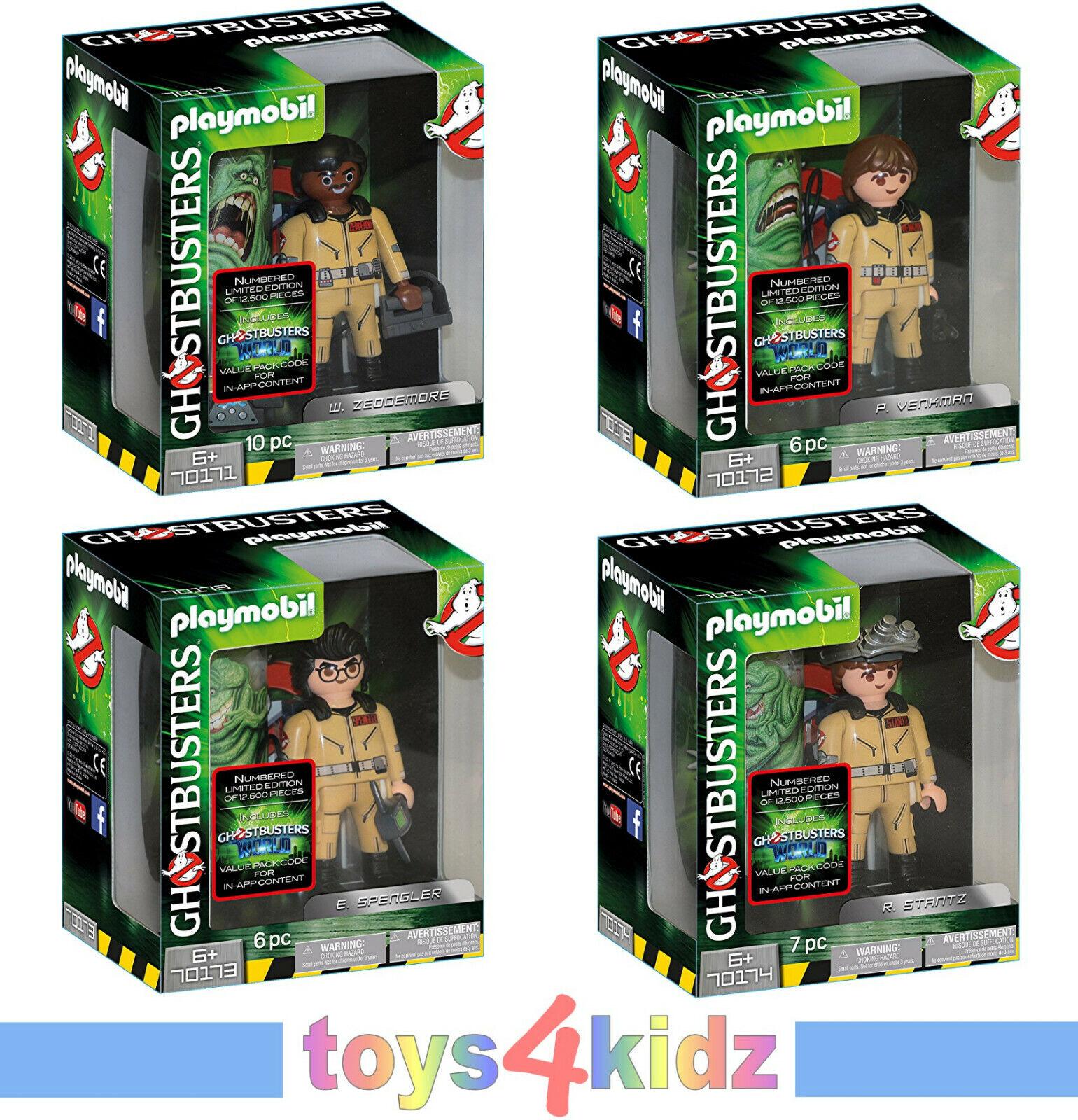 PLAYMOBIL® Ghostbusters™ Figures Komplettset 70171 - 70174 je 1x  NEU   OVP