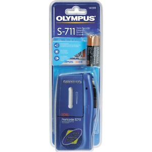 Olympus-Pearlcorder-S711-Voice-Recorder-Dictaphone-Blue