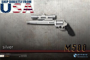 1-6-Scale-Pistol-Weapon-SILVER-Gun-M500-Magnum-For-12-039-039-Hot-Toys-Figure-U-S-A