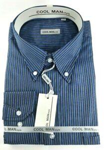 Camicia-Classica-Uomo-Cool-Man-manica-lunga-collo-Button-Down-art-286