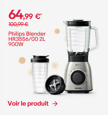 Philips Blender HR3556/00 2L 900W - 64,99 €*