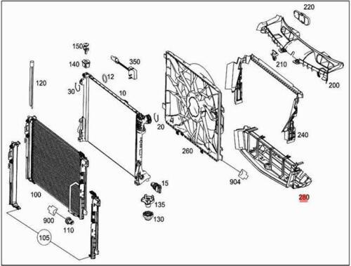 Genuine Air Duct MERCEDES X204 2045052730