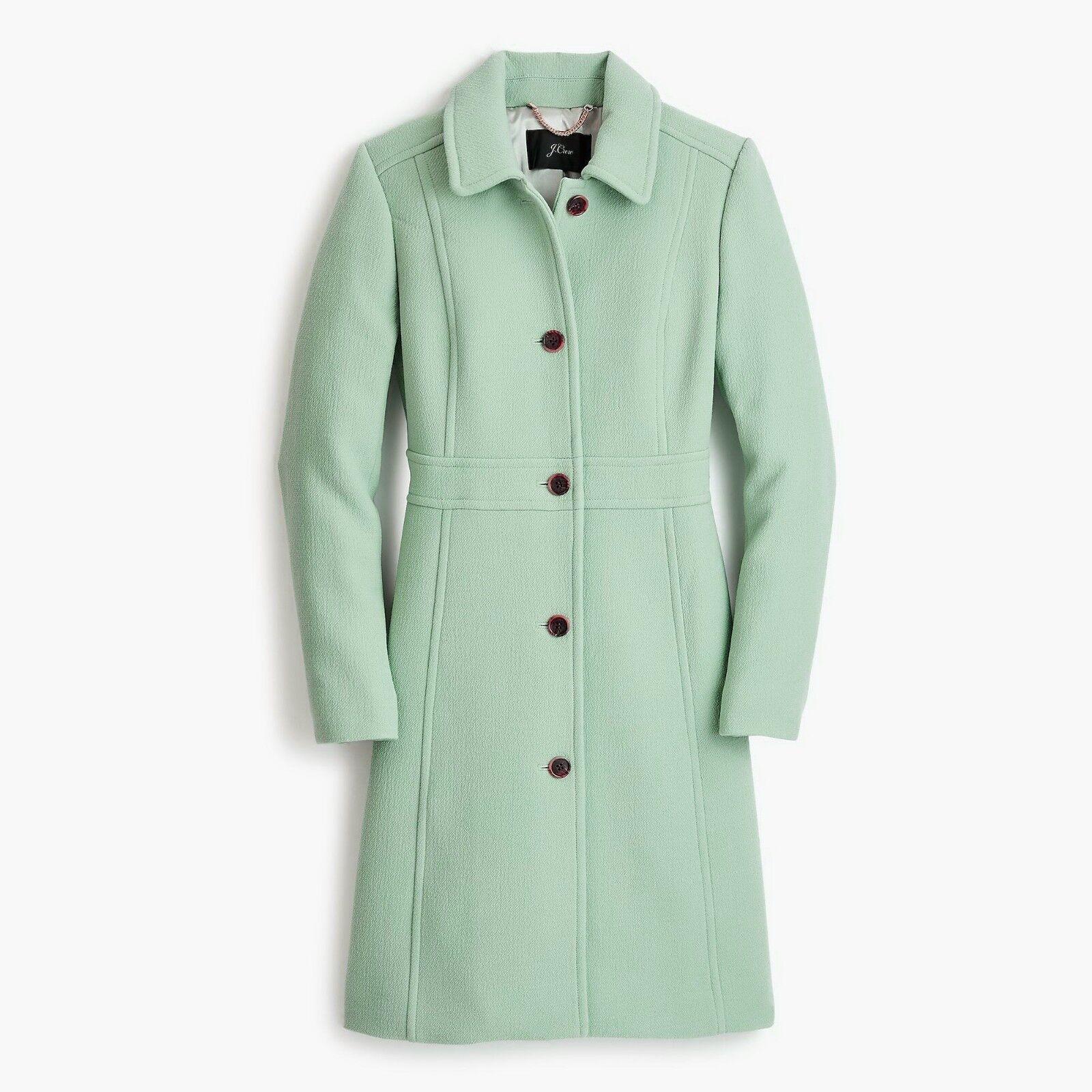 NWT Jbesättnings italienska Wool Lady Day Coat, Qukonstz grå, petite 2 - 378