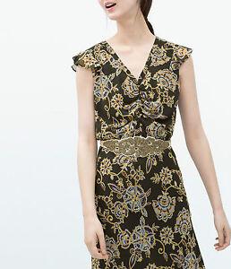 salvare cc2ee 5d38f Dettagli su Zara ECRU gioiello Obi Cintura Taglia UK 34/usa 34/it 90-NUOVA  CON ETICHETTA- mostra il titolo originale
