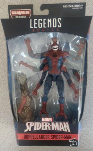 Marvel Legends Far From Home Spider-Man Molten Man BAF DOPPENGANGER IN HAND