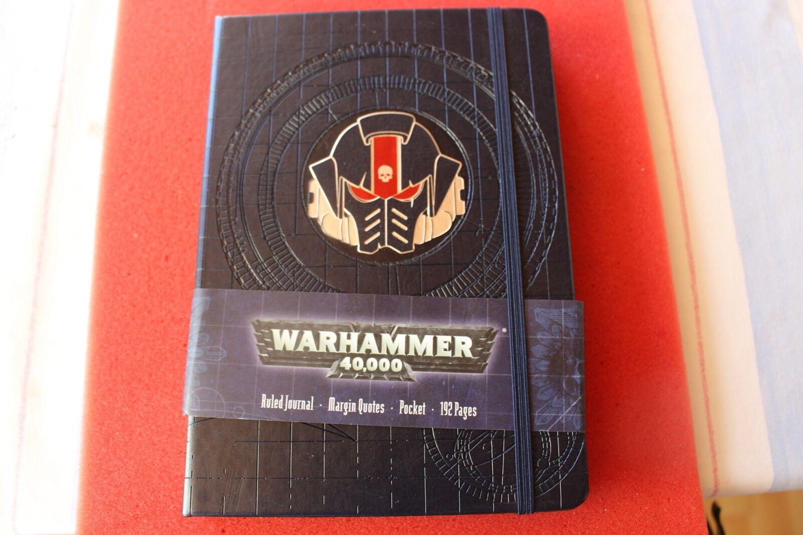 Games Workshop Warhammer 40k Ruled Journal BNIB New Margin Quotes Space Marines