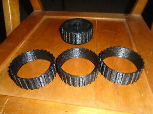 4-Radio-Shack-Robie-SR-replacement-treads-NEW-3D-printed