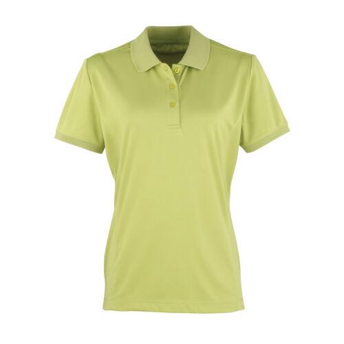 Premier Women/'s Coolchecker Pique Polo Plain Collared Casual T-Shirt PR616