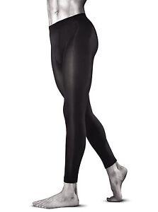 Sporty-Opaque-Meggings-Black-Underwear-S-XXL-Mens-Leggings-by-Knittex