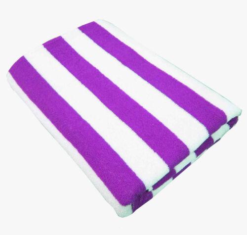 100/% COTTON STRIPE STRIPED TOWELS POOL BEACH BATH TOWEL 75cm X 150cm 11 Colours
