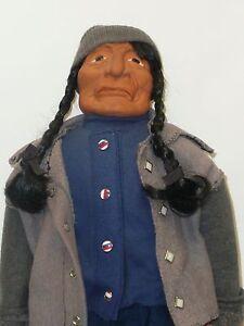 22-034-Original-Artist-Made-Native-American-Iron-Worker-Bisque-w-Cloth-Body