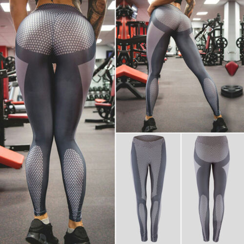 Women/'s Yoga Gym Stretch Leggings Pants Fitness Jogging Running Sports Trousers
