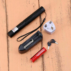 1MW 532nm Red Laser Pointer Pen Militar Burning Beam Light 20 Miles UK