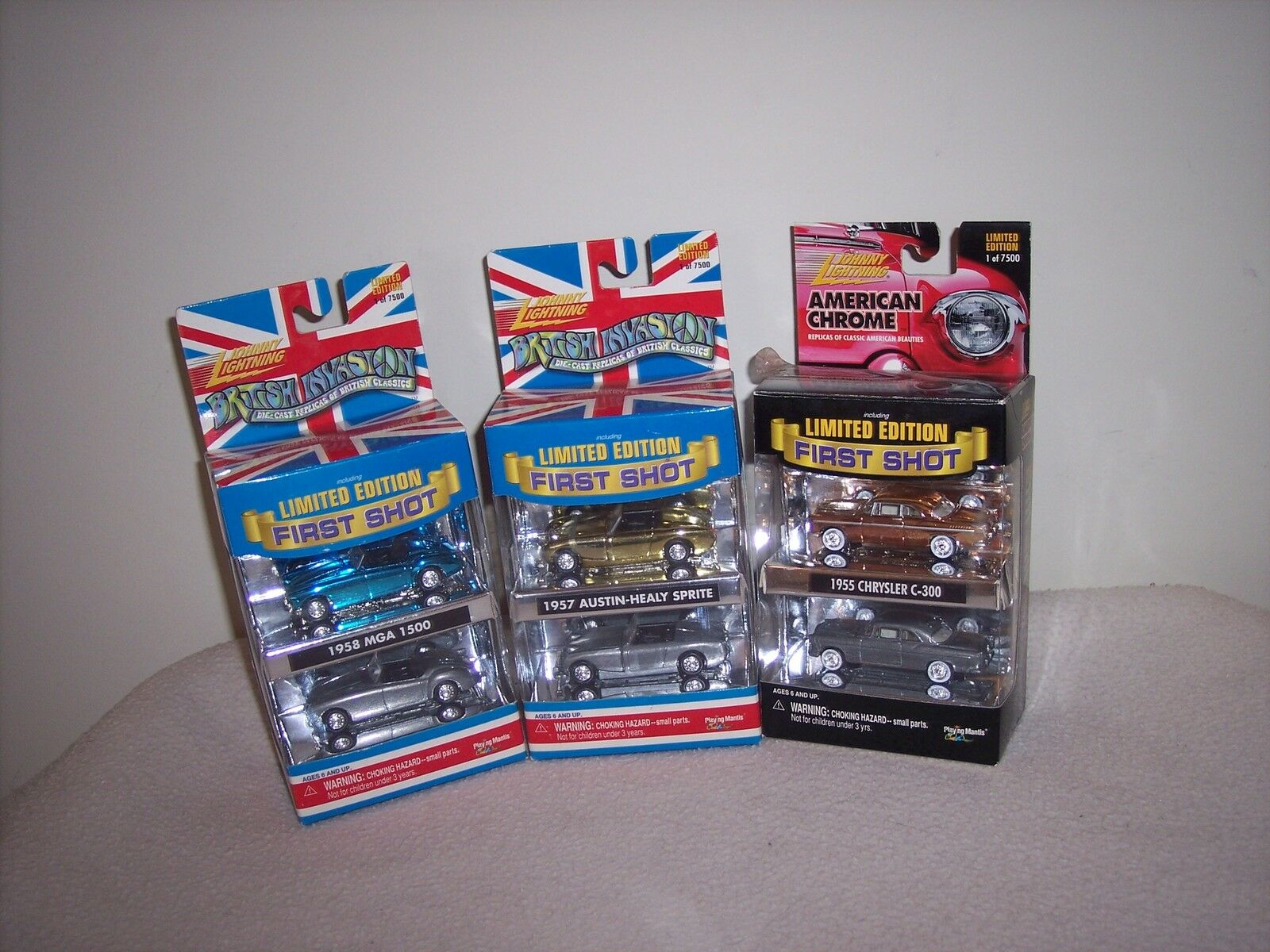 JOHNNY LIGHTNING LOT OF FIRST SHOT CARS   -    NEW