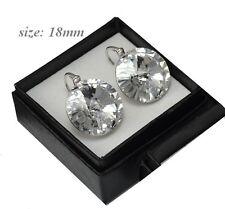 HUGE Crystal 18mm Rivoli - Sterling Silver Earrings made with Swarovski Crystals