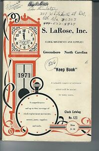 MG-004-S-LaRose-Inc-Keep-Book-1971-Illustrated-Clock-Part-Catalog-Vintage