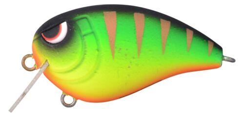 Spro Baby Fat John 50 Mat Firetiger 50mm10,4g Grün Gelb Rot Wobbler Floating OVP
