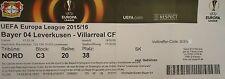 TICKET UEFA EL 2015/16 Bayer Leverkusen - Villarreal CF