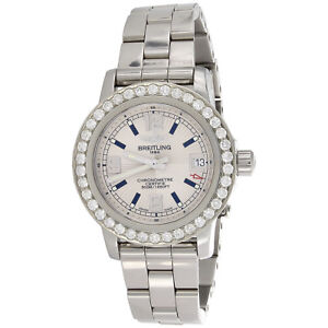 Ladies-Breitling-Colt-33mm-Custom-Diamond-Watch-Ref-A77387-White-Dial-1-76-CT