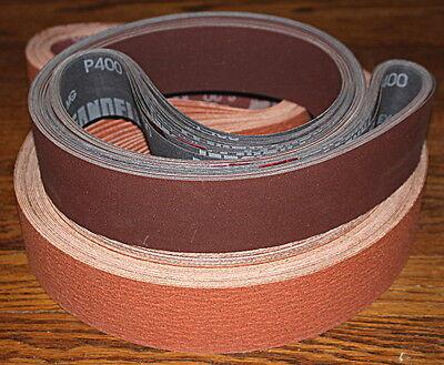 2x72  Aluminum Oxde-AO Lubed Flexible Sanding Belts P120 Grit 10 Belts