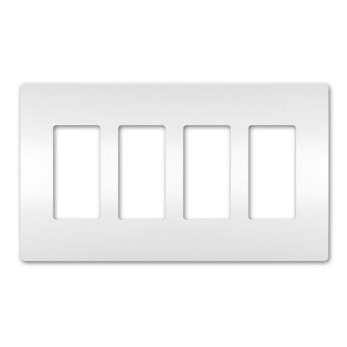 White 4-Gang RWP264W On-Q//Legrand Radiant Screwless Wallplate