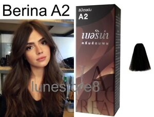 Details About Berina Permanent A2 Color New Hair Dye Cream Dark Brown Color Free Shipping
